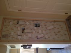 """DiY prayer wall. Use 1"""" x 1"""" to make a Frame for the area desired,  staple chicken wire to the back, put little blocks on each corner and in the middle to make it come out from the wall a bit so u can use clothes pins. Use the close pins to hang up prayer request and cards"""