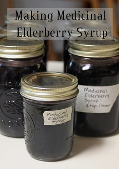 Medicinal Elderberry Syrup // Homespun Seasonal Living