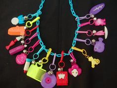 80's vintage charm necklace.  These were the best!!!