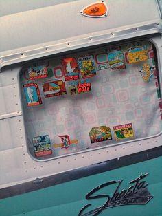 Shasta trailer window