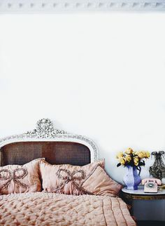 dreamy bedroom, princess bedrooms, interior, bed heads, romantic bedrooms, pillow, headboards, vintage homes, fashion designers