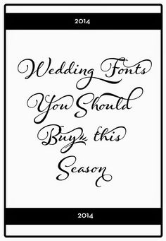 CT-Designs Calligraphy and Wedding Stationery: What Wedding Fonts Should You Buy This Season?