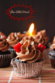 Devil's Chocolate Cupcakes w/ Spicy Mexican Chocolate Frosting