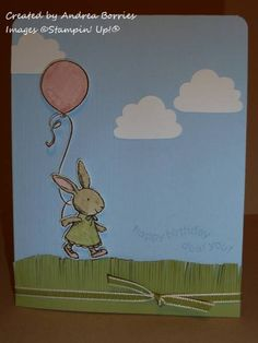 This is so cute -- Everybunny Easter set used for a birthday card.