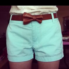 Bow Belt with Pastel Shorts
