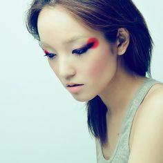 The makeup.
