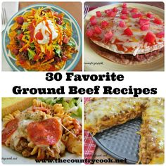 30 Favorite Ground Beef Recipes | Confession: I don't eat beef! Everything I cook using ground meat is always chicken! These are easy to swap for ground chicken (or turkey) and add some new ideas to my cooking repertoire!