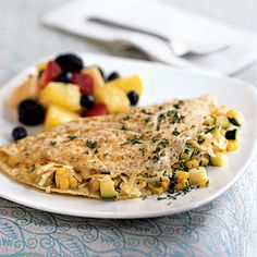 Superfast Summer Recipes | Omelet with Summer Vegetables | CookingLight.com
