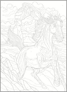 Coloring Page LineArt Horses On Pinterest