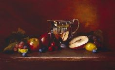 Lots of Red by Christine Hooker Oil ~ 10 x 20