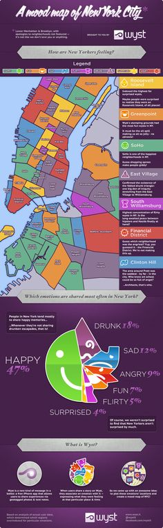 A Map of New York City's Moods - Neighborhoods - The Atlantic Cities    I live in NYC's angriest neighborhood!