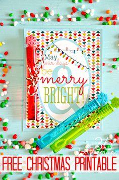 Merry and Bright Christmas Printable