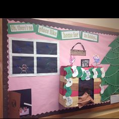 Our class Christmas bulletin board :)