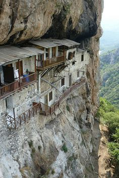 How do I get up to your place???    St John the Prodrome's Monastery - Arcadia, Greece