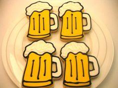 haha so cute...beer cookies