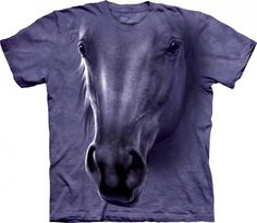 horse head the mountain printed t shirts 3883 p 730x636 Realistic 3D Farm Animal Face T Shirts by The Mountain