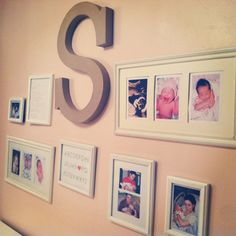 love this wall for Olivia's nursery!