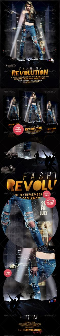 Fashion Revolution Flyer Template / $6. ***Fashion Revolution Flyer Template  This flyer is perfect for the promotion of Events, Club Parties, Musicals, Shows, Festivals, Concerts or Whatever You Want!.***