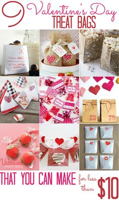 9 Valentine's Day Treat Bags (that you can make for less than $10!) - All Cheap Crafts