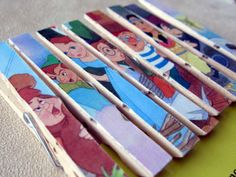 Peter Pan Baby Shower or Birthday Favor, Prize, Gift Clothespin Magnets - Set of 8, stocking stuffer