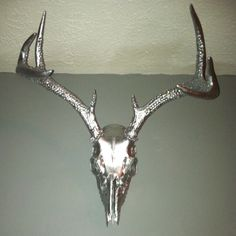 Deer skull I painted and then bejeweled the antlers on :)