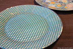 how to Mod Podge plates