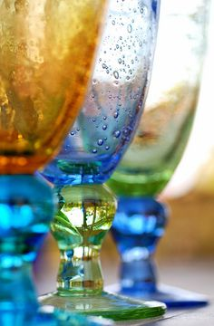 Colored water glasses