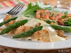 Seafood Oscar, feel like a fancy restaurant chef in a pinch!   @Mr. Food Test Kitchen