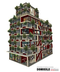 Party On in DOMICILE, Another Entry in the New York Micro-Apartment Competition : TreeHugger