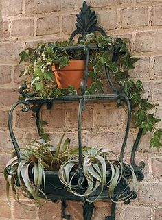 Enhance the ambiance of your outdoor space with the delicate and handcrafted Florentine Wall Planter.