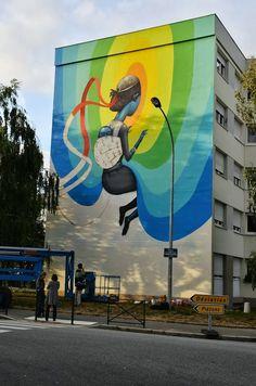 Mr Pilgrim Street Art Online #urbanart #graffitiart #streetart #murals #wallmural #seth