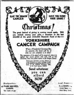 Yorkshire Cancer Campaign. 15 December, 1926