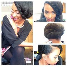 Beautiful updo. Can't wait to replicate. -TMC~~ NATURAL HAIR UPDO