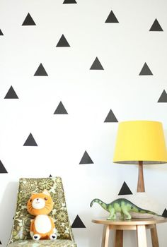 urban walls triangle decals