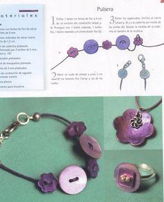 Manualidades que se pueden hacer con botones : cosascositasycosotasconmesh