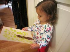 Kara's Domestic Life: toddler sponge painting