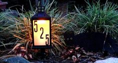 DIY (Solar) Address Sign... Great idea for front yard/garden area/