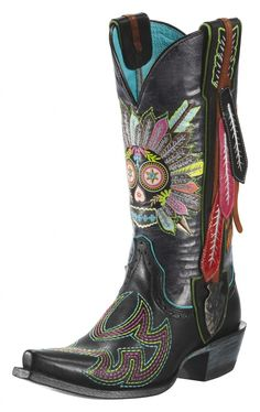 Ariat & Gypsy Soule's 2012 Spring Collection http://www.horsesandheels.com/2011/10/mondays-cowboy-boots-of-the-day-41/ cowgirl boots, fashion, cowboy boots, style, ariat, gypsi soul, western boot, shoe, sugar