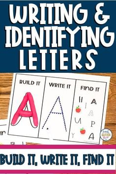 These fun, printable letter recognition activities are a hands on way for preschool, prek, or kindergarten students to practice letter ID and writing capital and lowercase letters. Each mat includes 3 activities allowing kids to form letters using playdough, trace the letters, and find the letters. Perfect for small group, morning work, and centers during back to school or any time of year! #letterid #prek #kindergarten #teachglittergrow