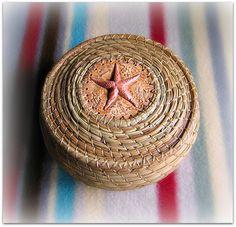 Starfish Pine Needle Basket