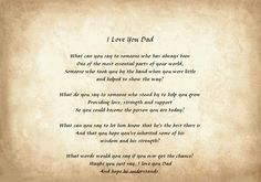 Poems For Dads From Daughters