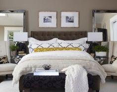 bedding, mirror, pillow, bedroom idea, contemporari bedroom, guest bedrooms, new homes, master bedrooms, guest rooms