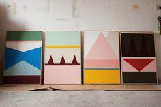 north melbourn, esther stewart, color combos, colors, color patterns, paint, studio visit, design, black