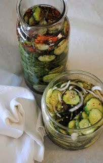 Easy Refrigerator Sweet and Spicy Pickles