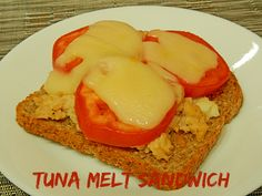 This tuna melt sandwich with cheese and tomato was so easy and so tasty. Plus, it has foods from 4 of the 5 food groups!