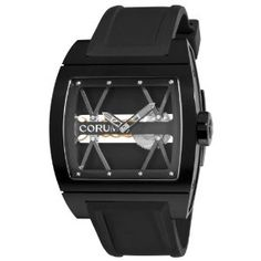 Corum Men's Bridge Black Dial Titanium Watch
