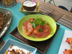 Grapefruit Salad with Honey-Mint Dressing : Recipes : Cooking Channel