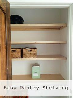 Easiest Pantry or Closet Shelving .... DIY