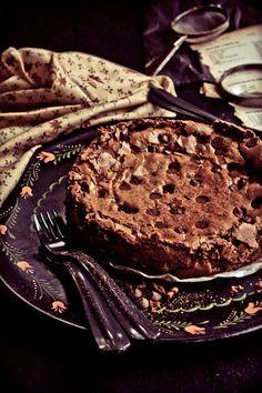 Sticky Dark Chocolate Cake