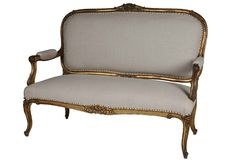 Antique Louis XV-Style French Settee, as curated by Gustavo Olivieri on One Kings Lane
